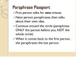 paraphrase passport
