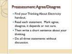 preassessment agree disagree