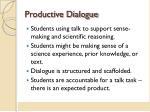 productive dialogue