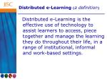 distributed e learning a definition