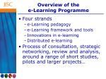 overview of the e learning programme