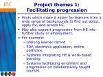 project themes 1 facilitating progression
