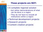 these projects are not