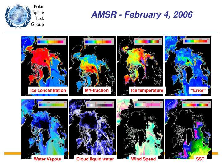 AMSR - February 4, 2006
