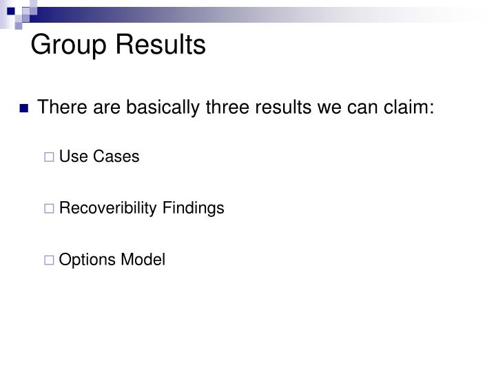 Group Results