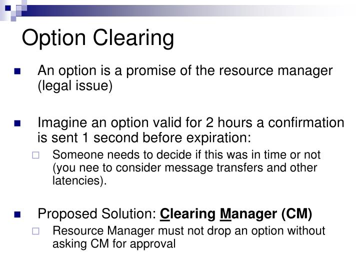Option Clearing