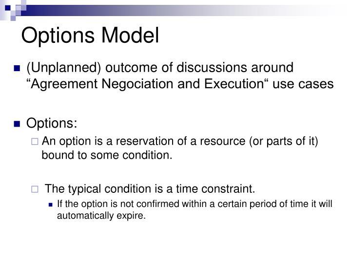 Options Model