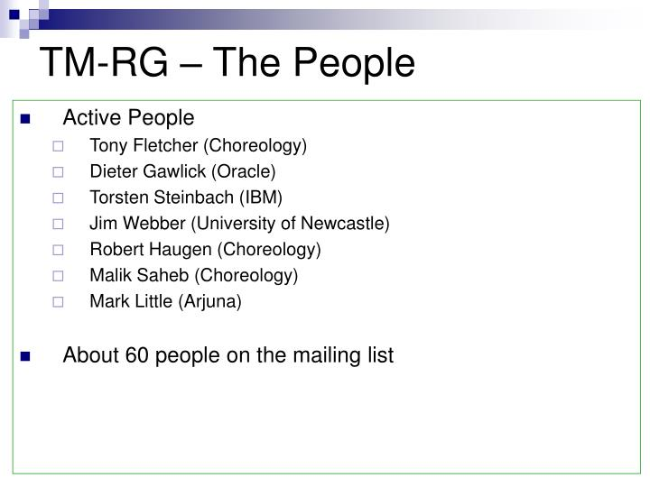 Tm rg the people