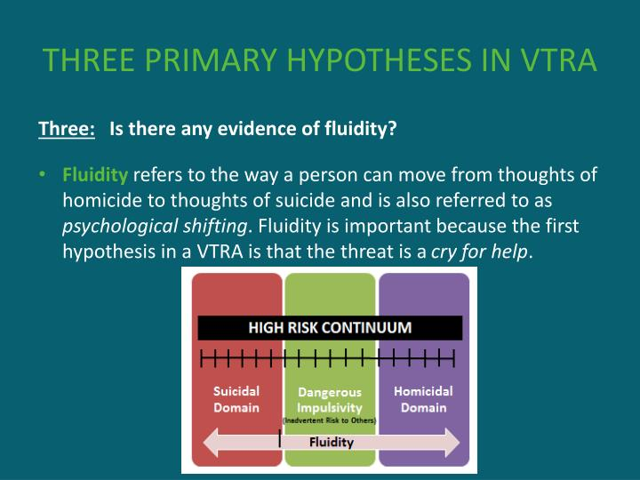 THREE PRIMARY HYPOTHESES IN VTRA