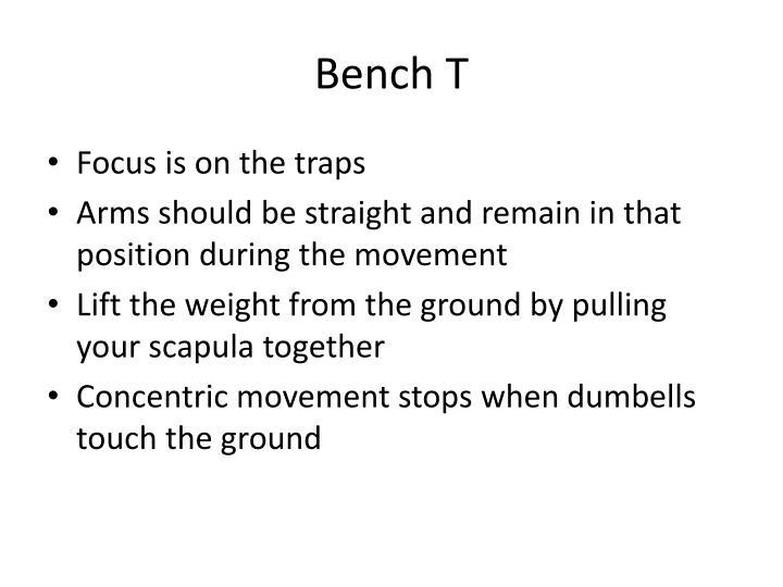 Bench t