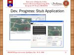 dev progress stub application