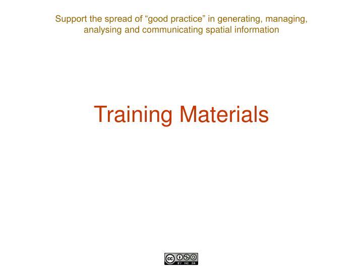 Training Materials