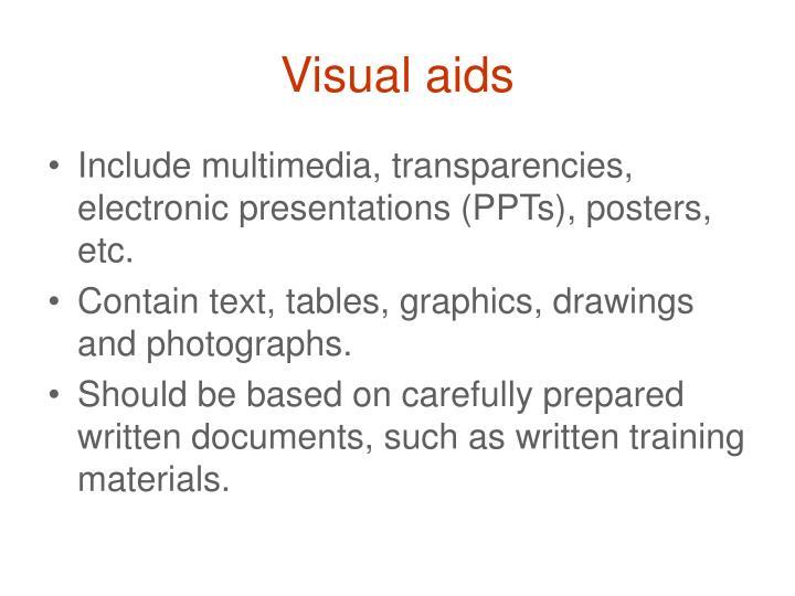 Visual aids