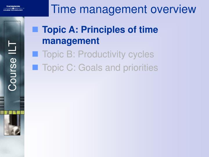 Time management overview1