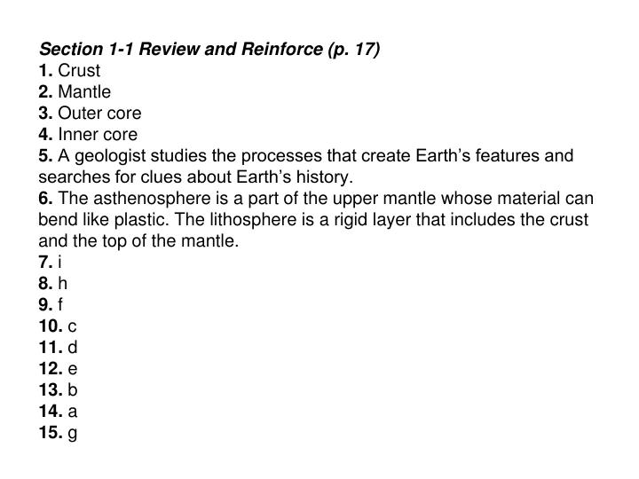 Ppt Inside Earth Chapter 1 Plate Tectonics Review And Reinforce
