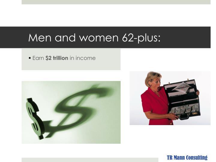 Men and women 62-plus:
