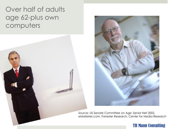 Over half of adults age 62-plus own computers