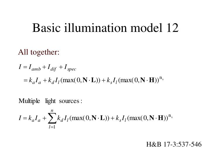 Basic illumination model 12