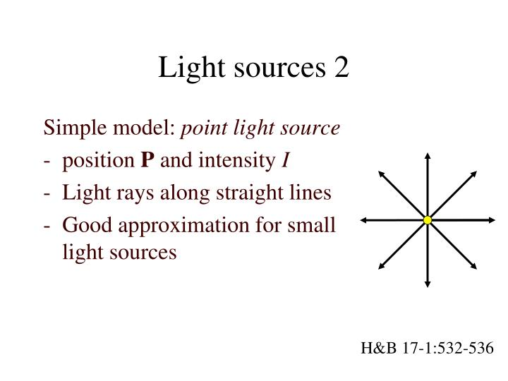Light sources 2