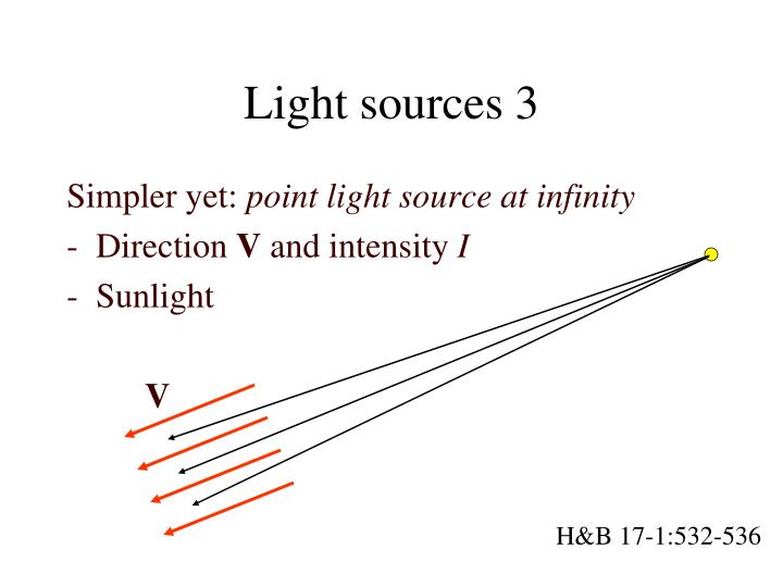 Light sources 3