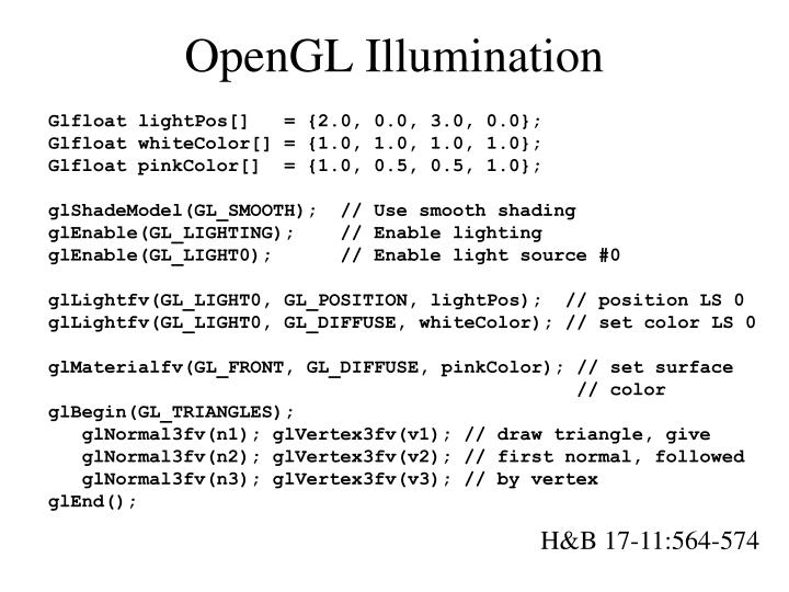 OpenGL Illumination