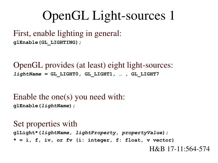 OpenGL Light-sources 1