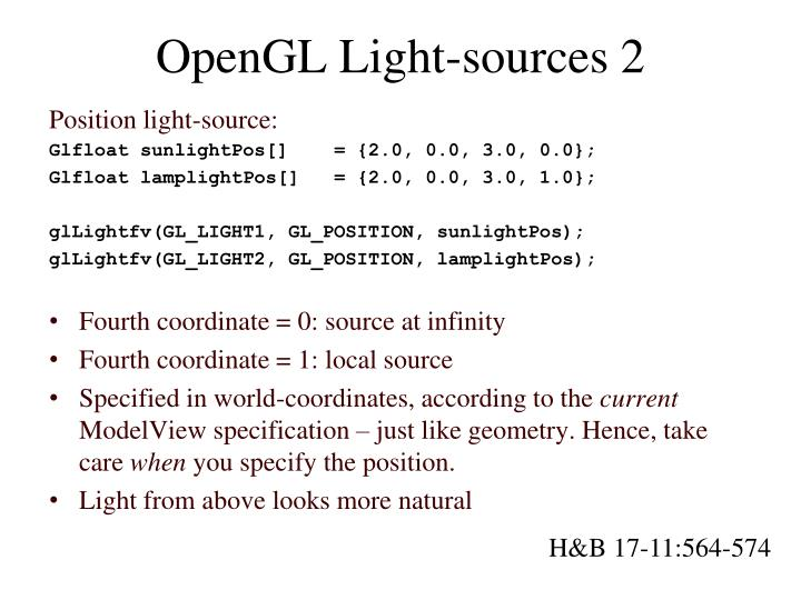 OpenGL Light-sources 2