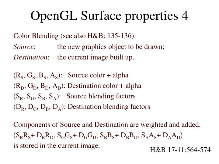 OpenGL Surface properties 4