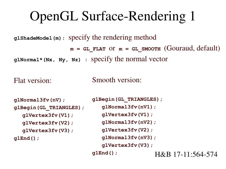 OpenGL Surface-Rendering 1