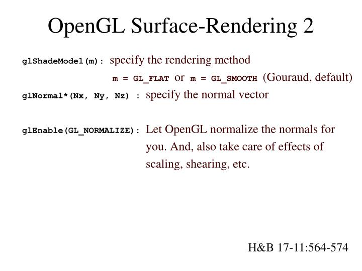 OpenGL Surface-Rendering 2