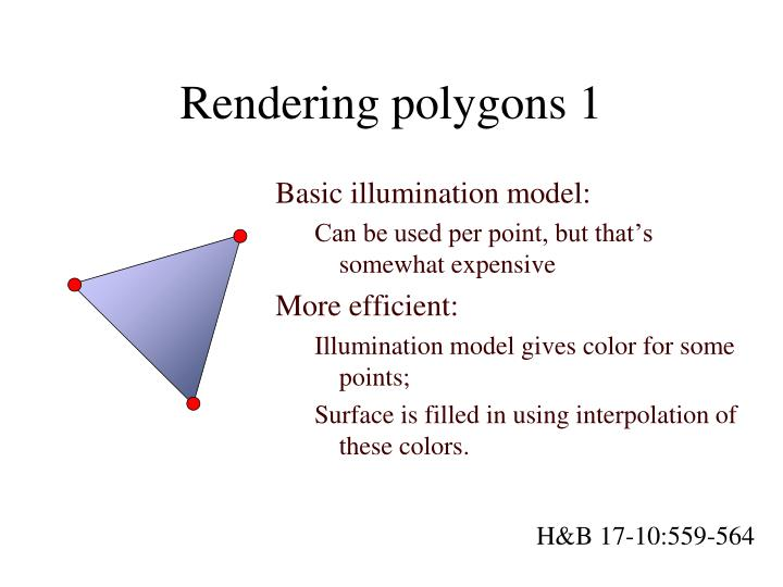Rendering polygons 1