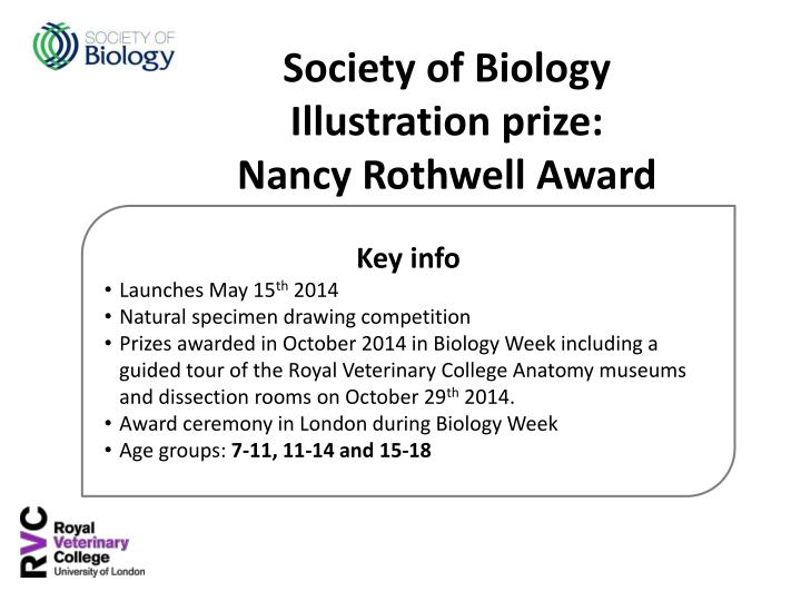 PPT - Society of Biology Illustration prize: Nancy Rothwell