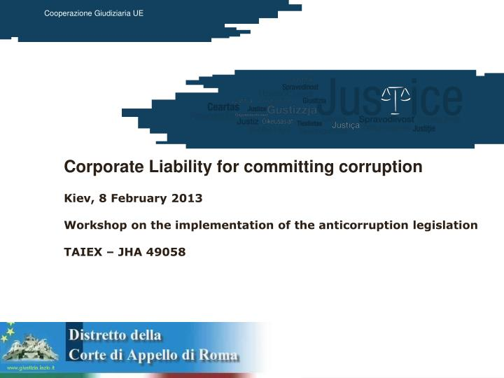 Corporate Liability for committing corruption