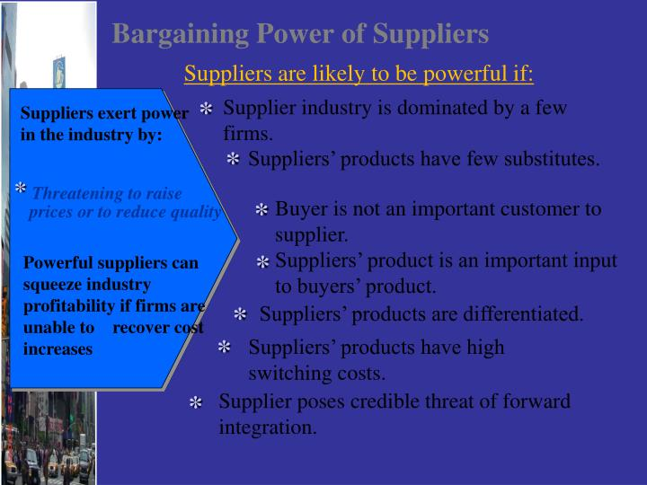 bargaining power of suppliers garments industry