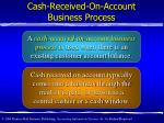 cash received on account business process