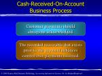 cash received on account business process1