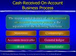 cash received on account business process2