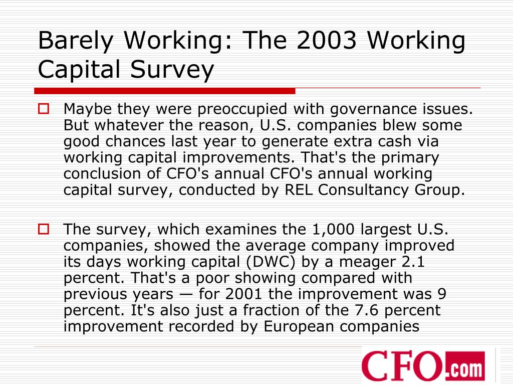 PPT - Working Capital Management PowerPoint Presentation - ID:6825889
