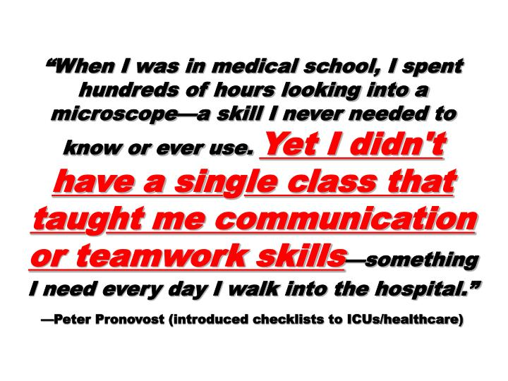 """""""When I was in medical school, I spent hundreds of hours looking into a microscope—a skill I nev..."""