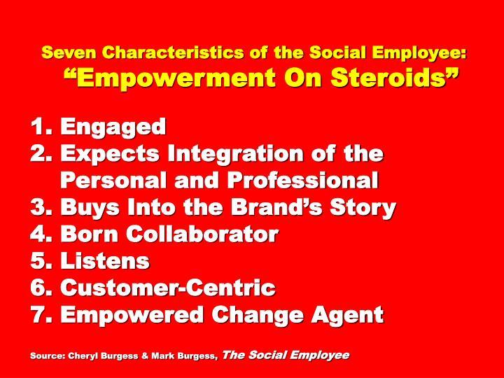 Seven Characteristics of the Social Employee: