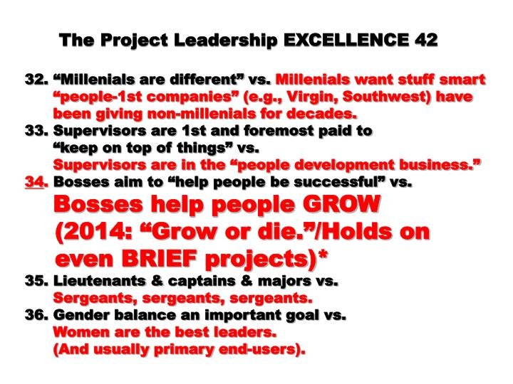 The Project Leadership EXCELLENCE 42