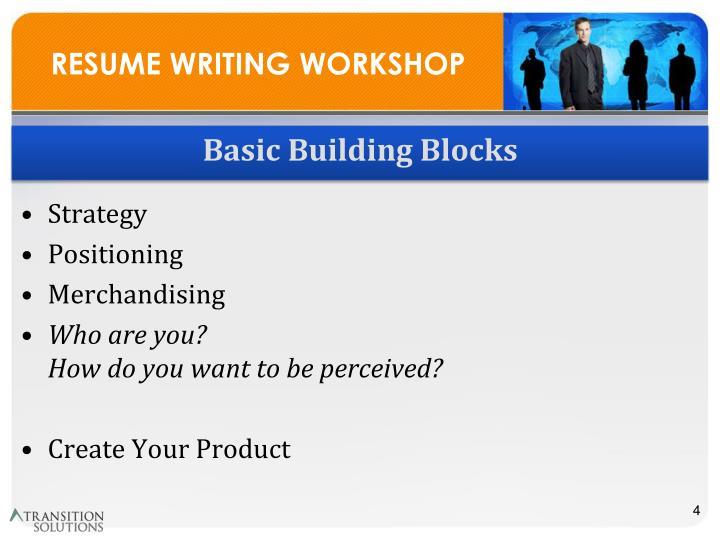 PPT - RESUME WRITING WORKSHOP PowerPoint Presentation - ID:6826075