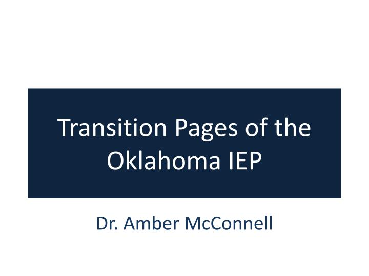 transition pages of the oklahoma iep n.