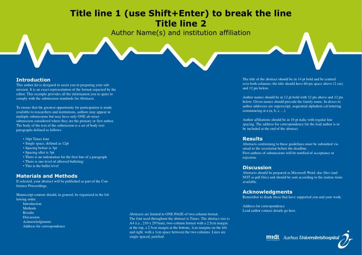 Title line 1 (use Shift+Enter) to break the line