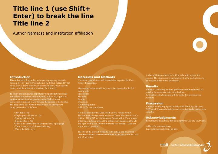 Title line 1 (use Shift+