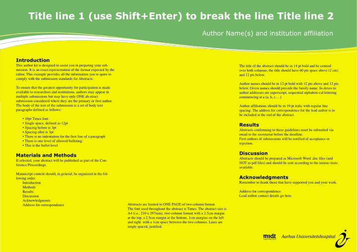 Title line 1 (use