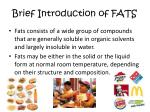 brief introduction of fats
