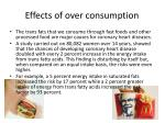 effects of over consumption