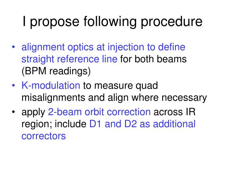 I propose following procedure