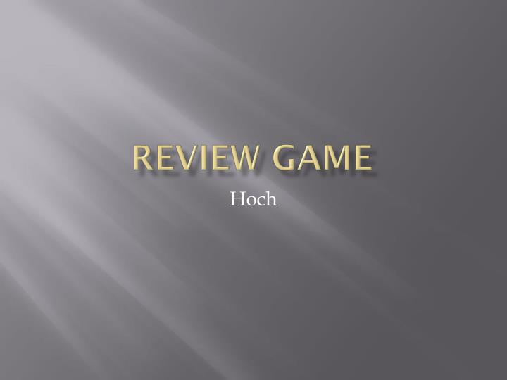 review game n.